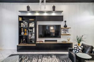 Contemporary Built-in Entertainment Center