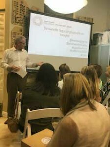 Keith Levine presenting at Schrapper's ASID event